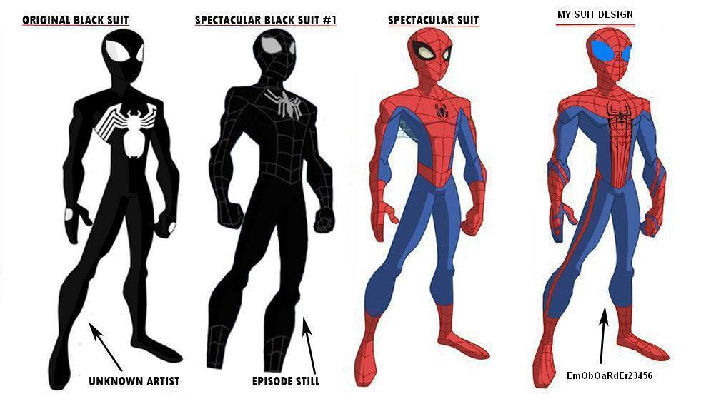 The Spectacular Spider Man Suits by EmObOaRdEr23456 on DeviantArt