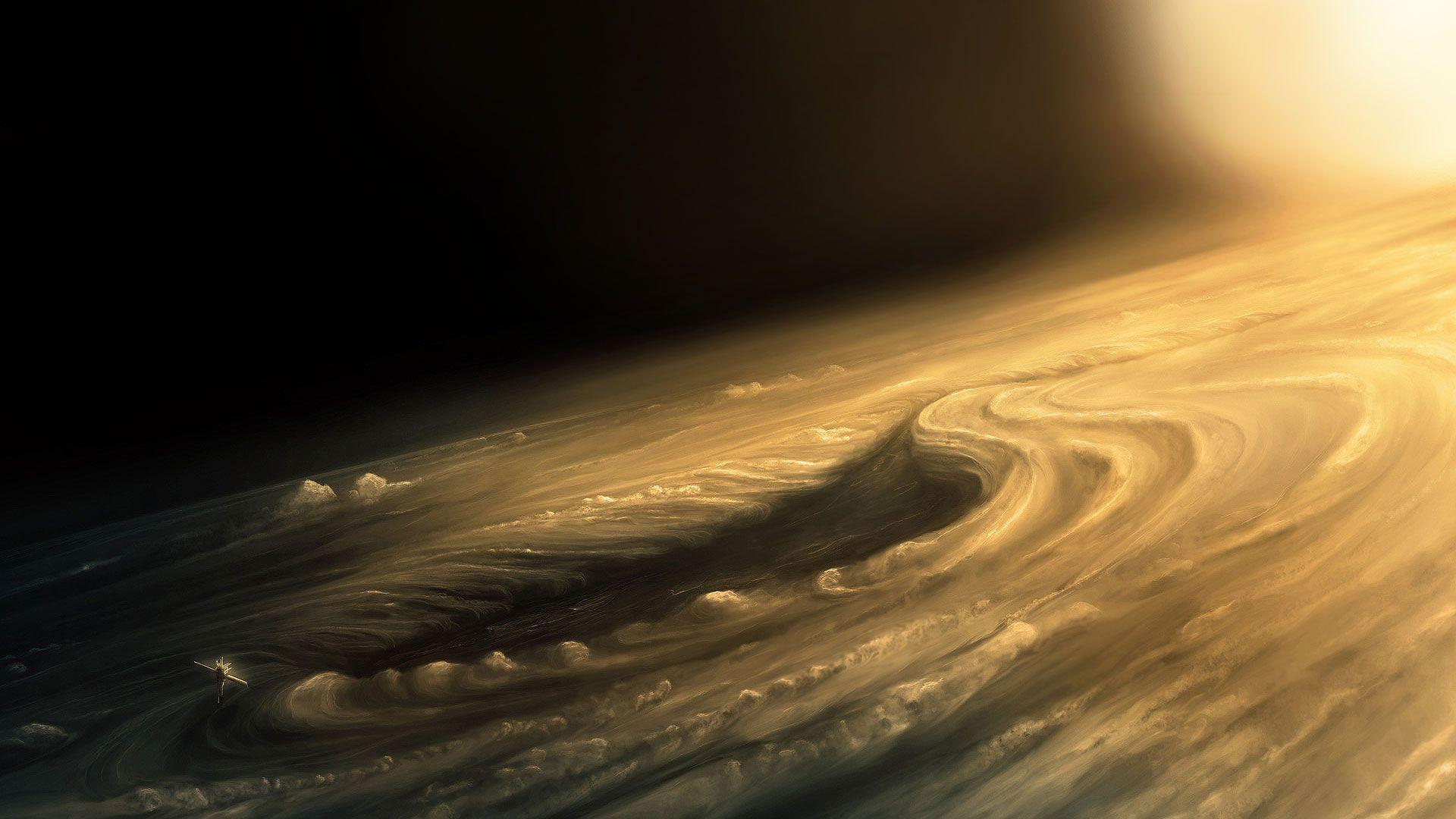 Jupiter Surface Painting Wallpapers Wide or HD