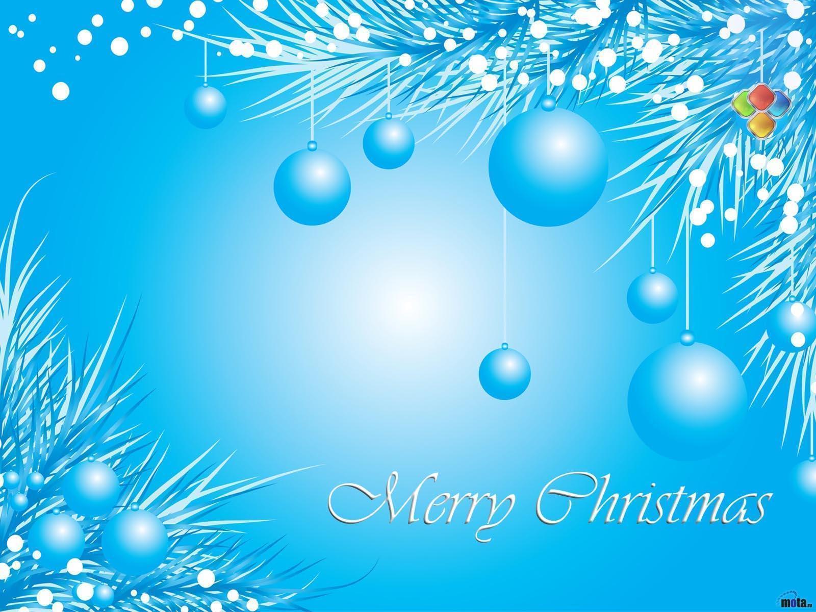 Light Blue Christmas Wallpaper