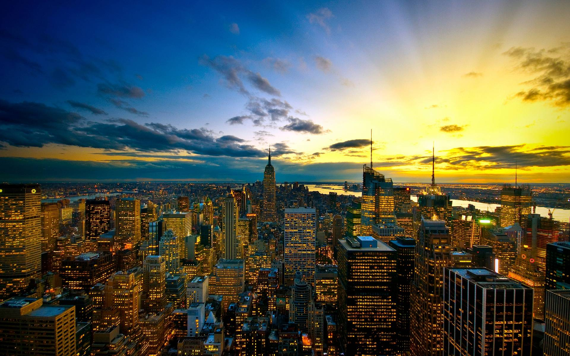 Wallpapers of in new york city Stock Free Image