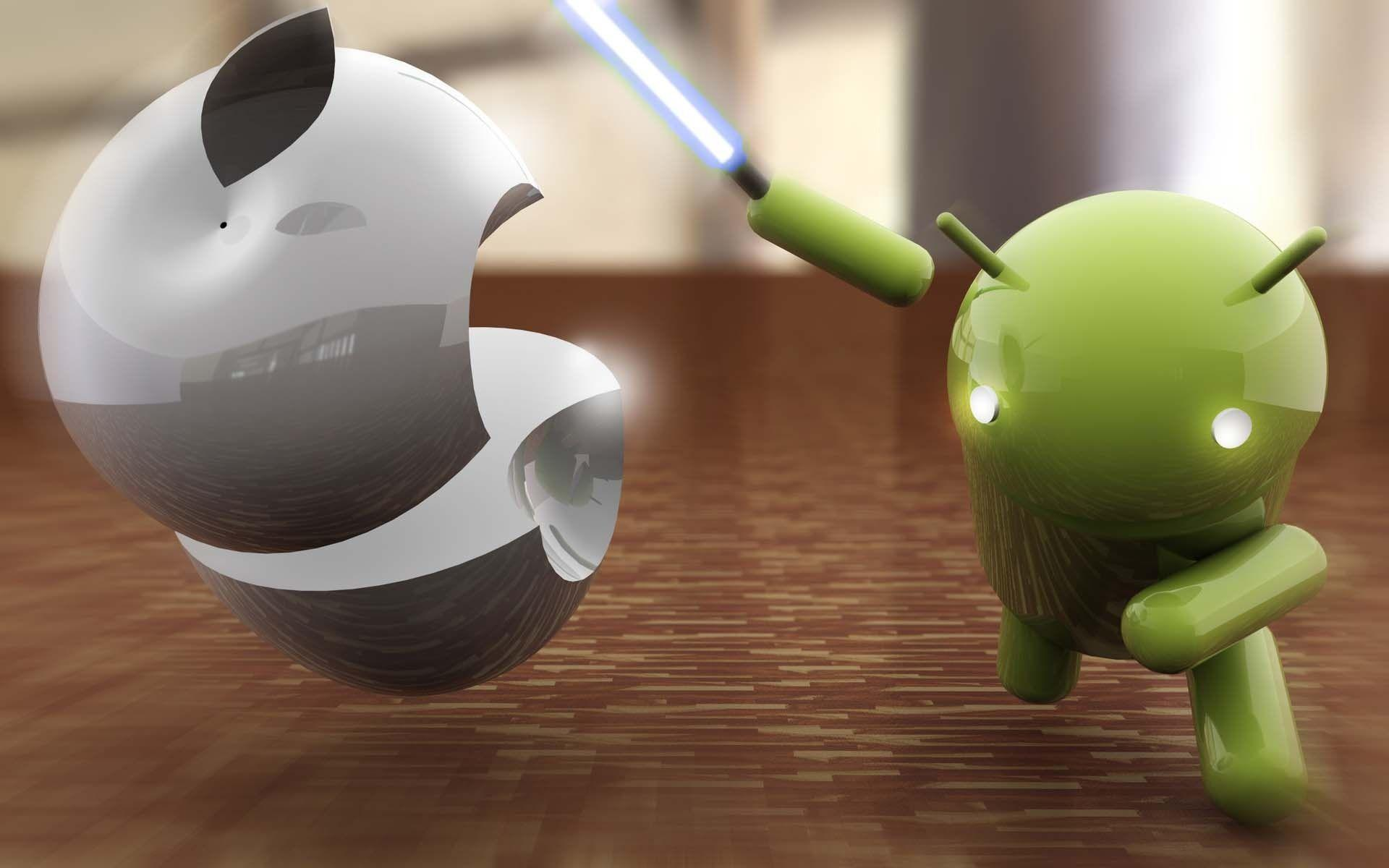 android vs apple wallpapers full hd wallpaper search