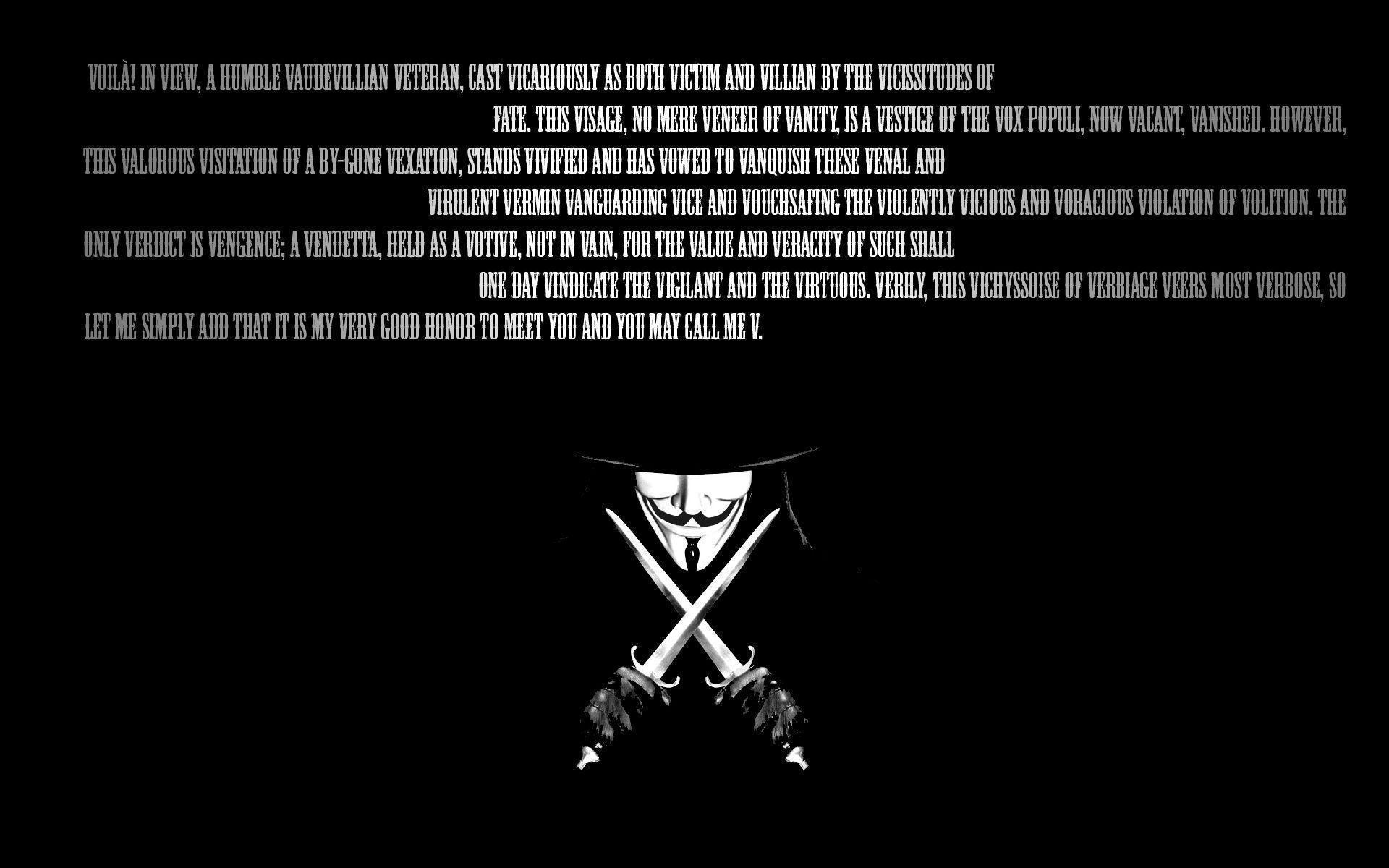 Enjoy this V for Vendetta background | V for Vendetta wallpapers