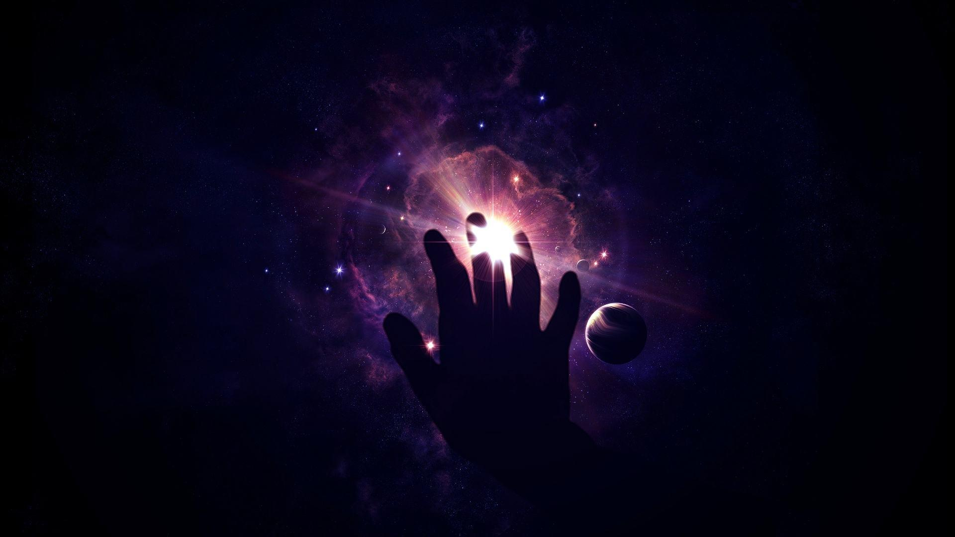 Wallpapers Original space star hand unreality Backgrounds Picture