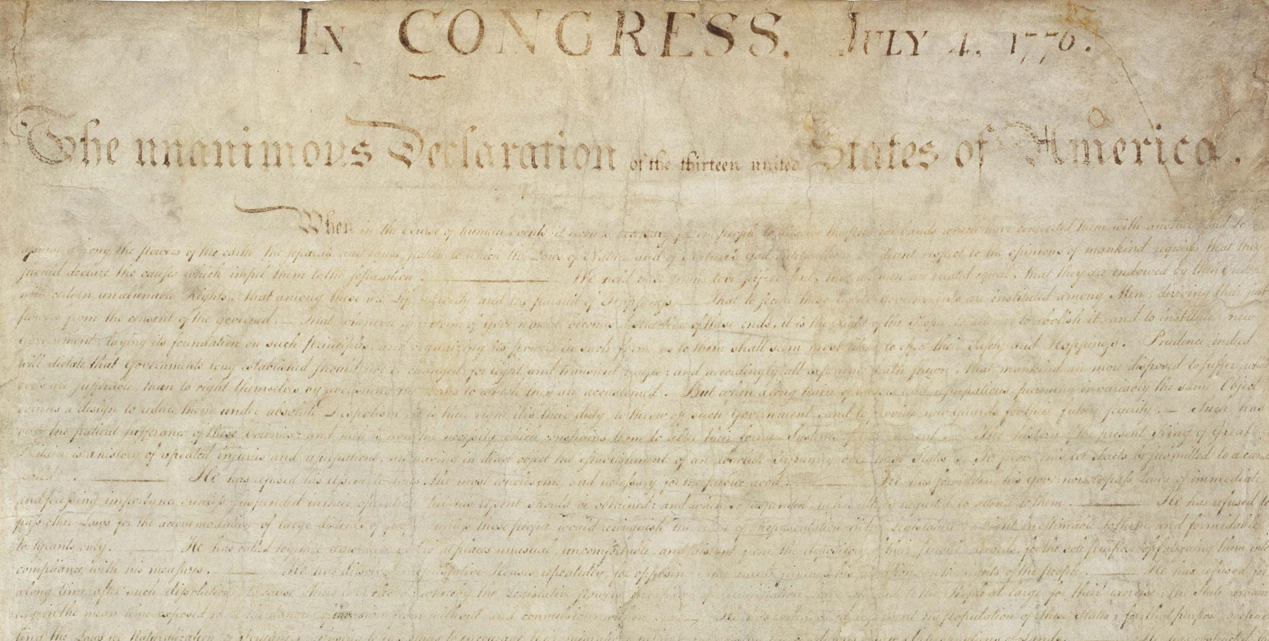 has america moved from the ideals of the declaration of independence Here's a hint - the ideals expressed in the us declaration of independence are primarily concentrated in the second paragraph and in the list of injuries and usurpations the colonists asserted the british king had committed.