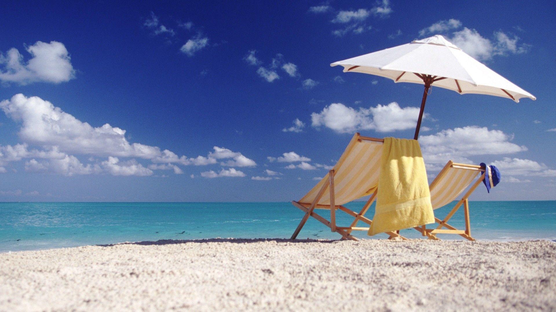 Beach with chairs - Beach Chairs Wallpaper Wide 12205 Wallpaper Wallpaper Screen