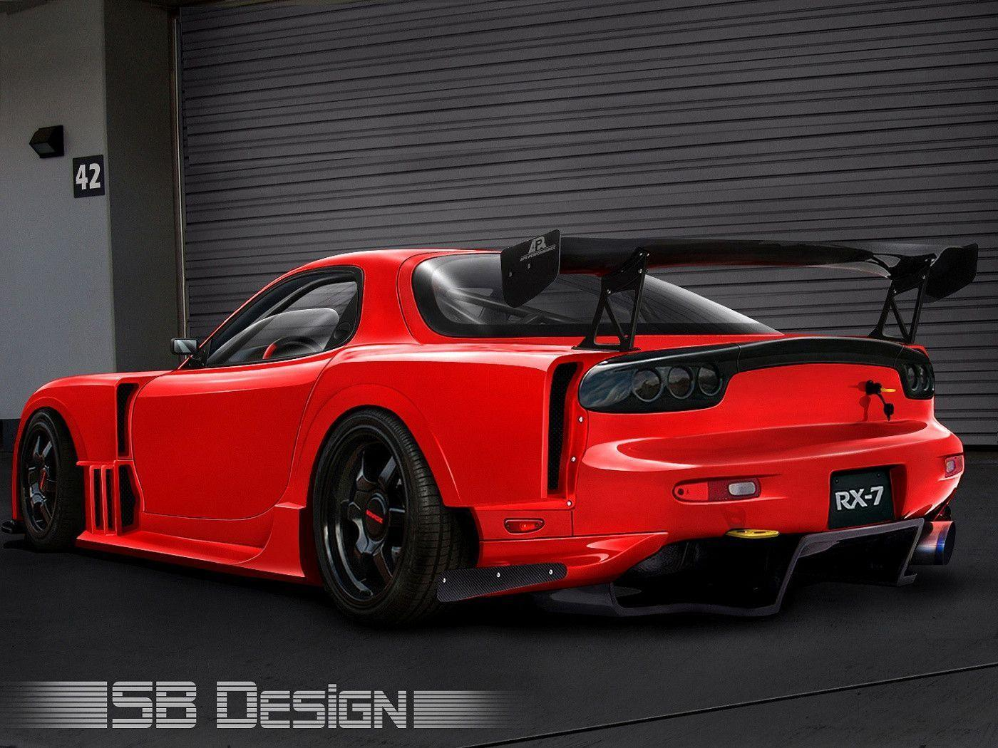 Pix For > Green Mazda Rx7 Wallpaper