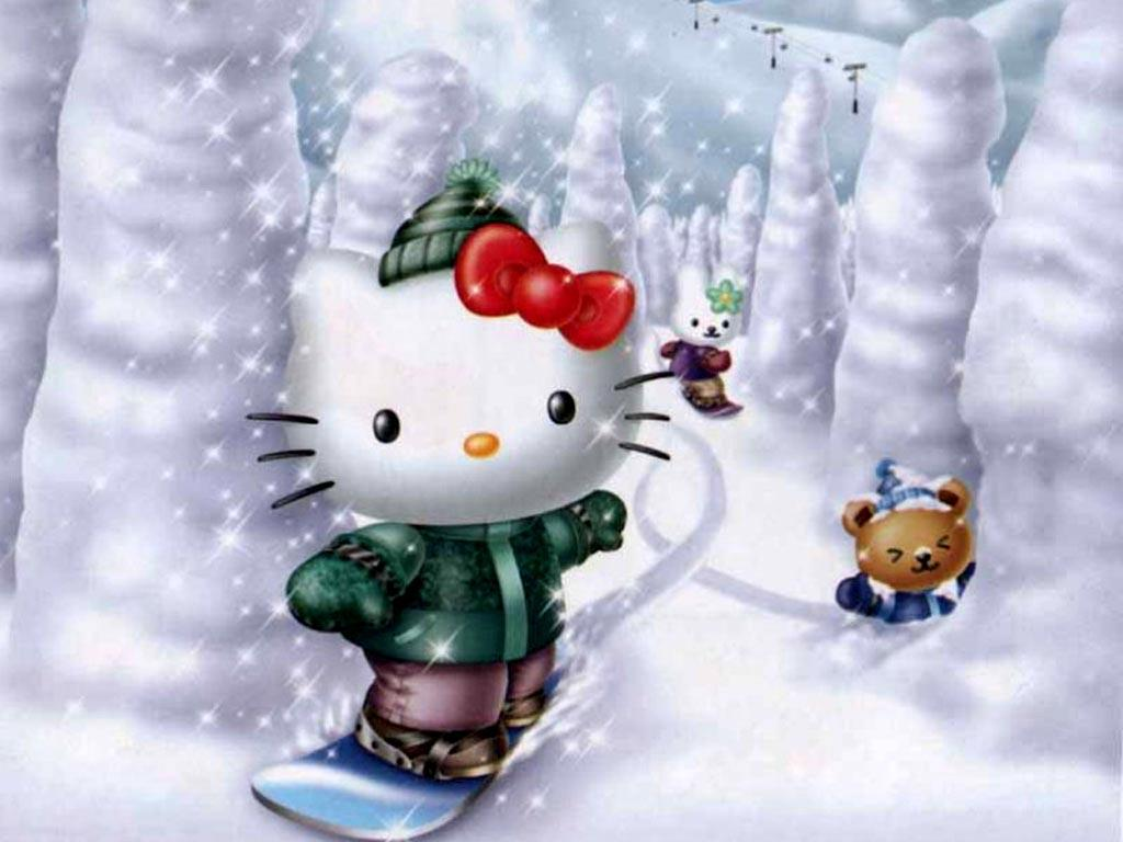 christmas hello kitty wallpapers wallpaper cave