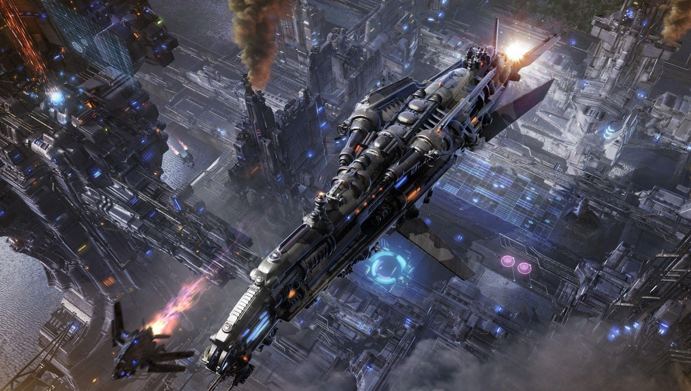 Spaceship Computer Wallpapers Desktop Backgrounds 2275x1289 Id