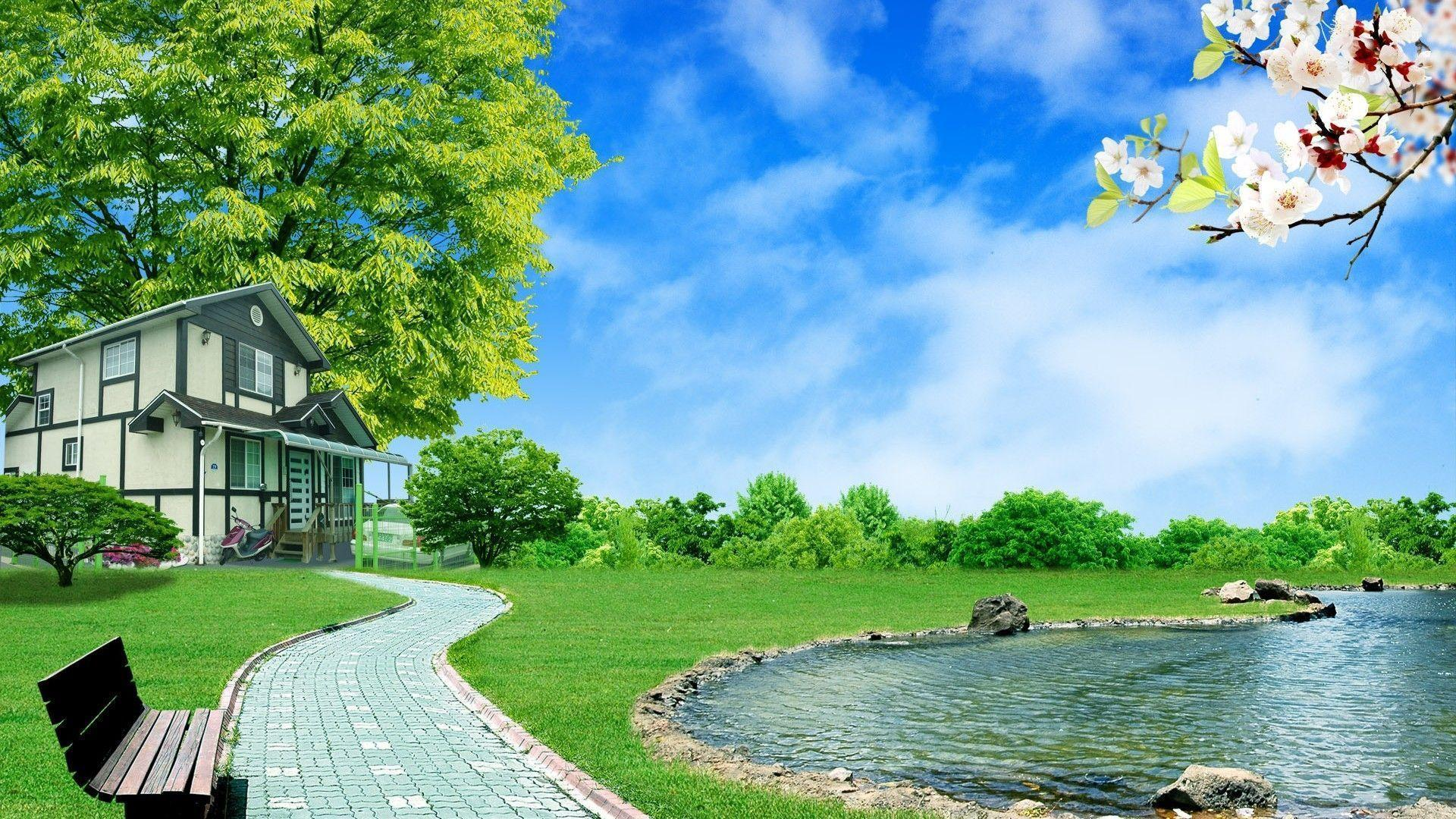 3D Nature Wallpaper For Walls Widescreen 2 HD Wallpapers | Eakai.