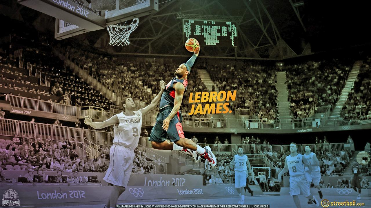 LeBron James Team USA Ollympic Dunk Basketball Wallpapers 2012