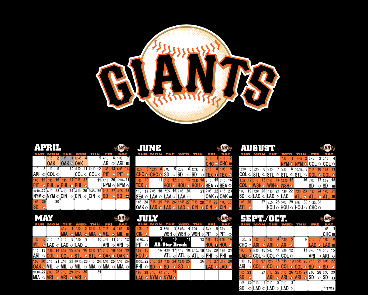 San Francisco Giants Logo Wallpapers