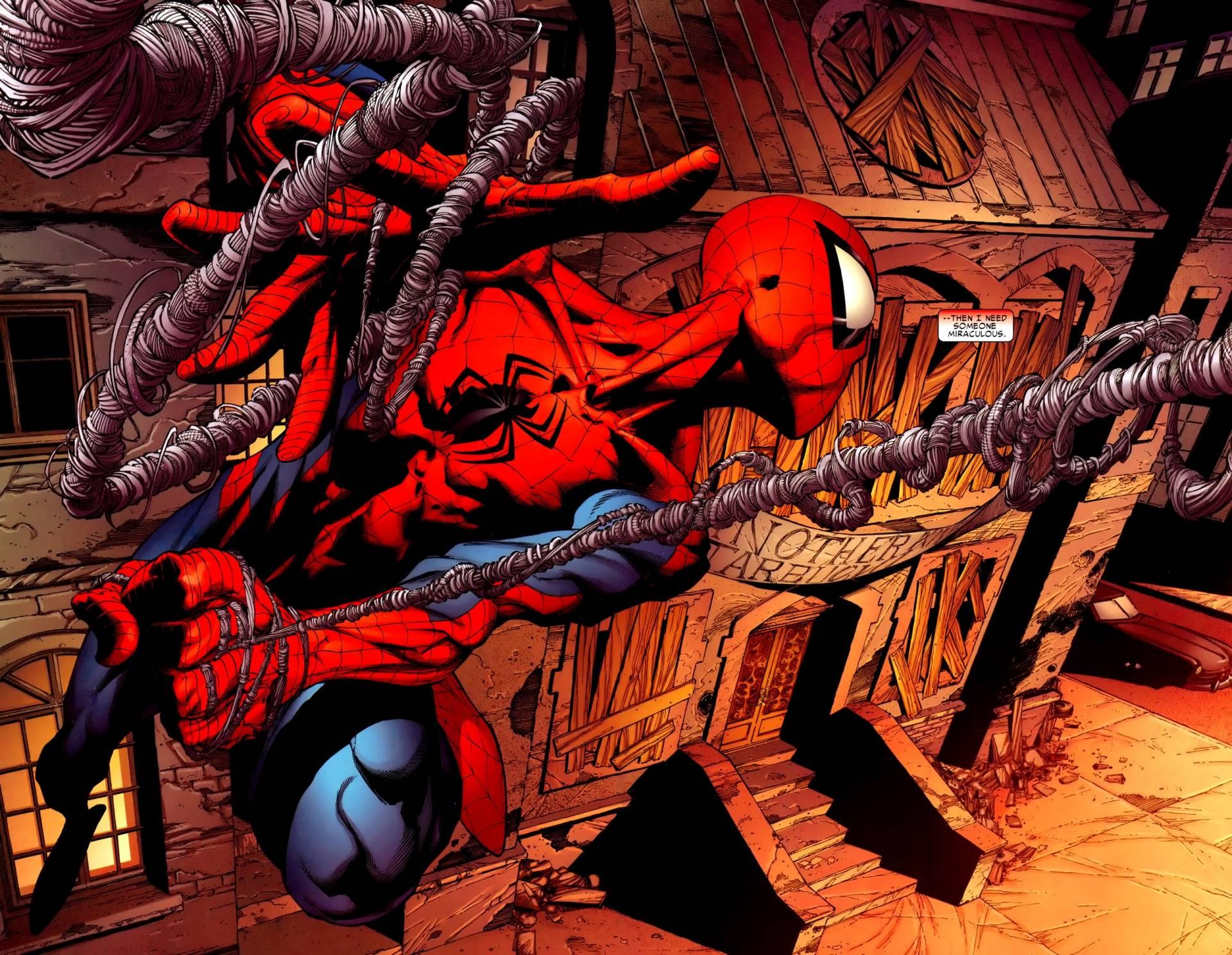 Spiderman Cartoon Wallpapers Wallpaper Cave