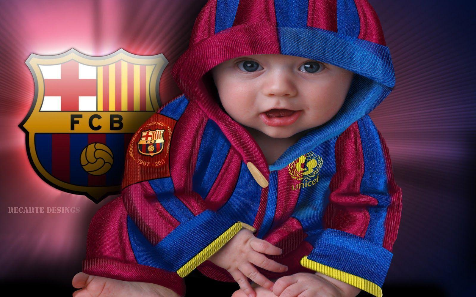 FC Barcelona Baby Wallpaper | Download High Quality Resolution ...