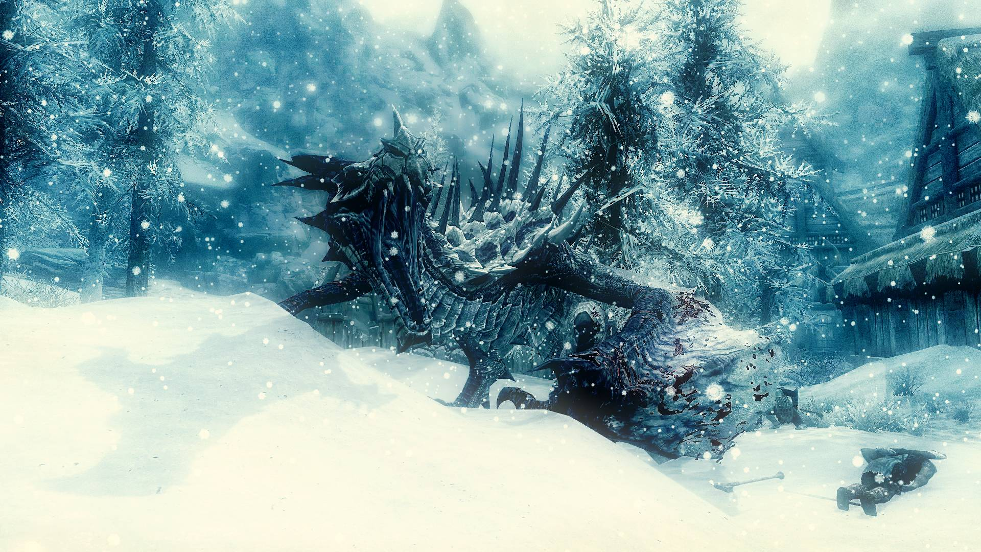 Wallpapers For > Skyrim Dragon Wallpapers Hd