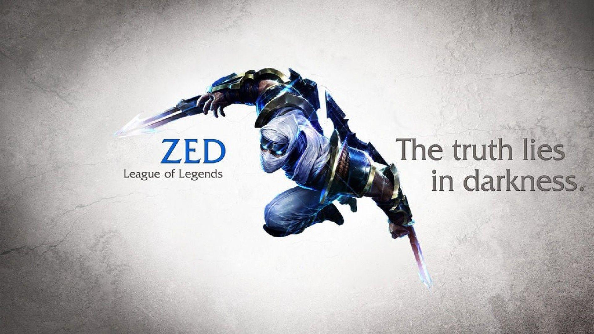 Wallpapers For > League Of Legends Zed Wallpapers