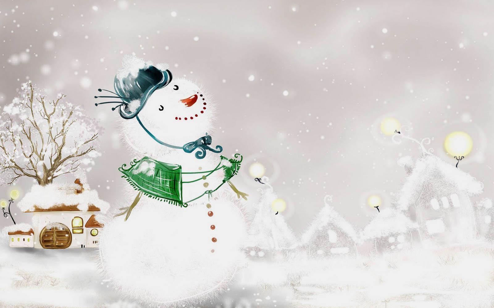Christmas Snowman Desktop Wallpaper - WallpaperSafari