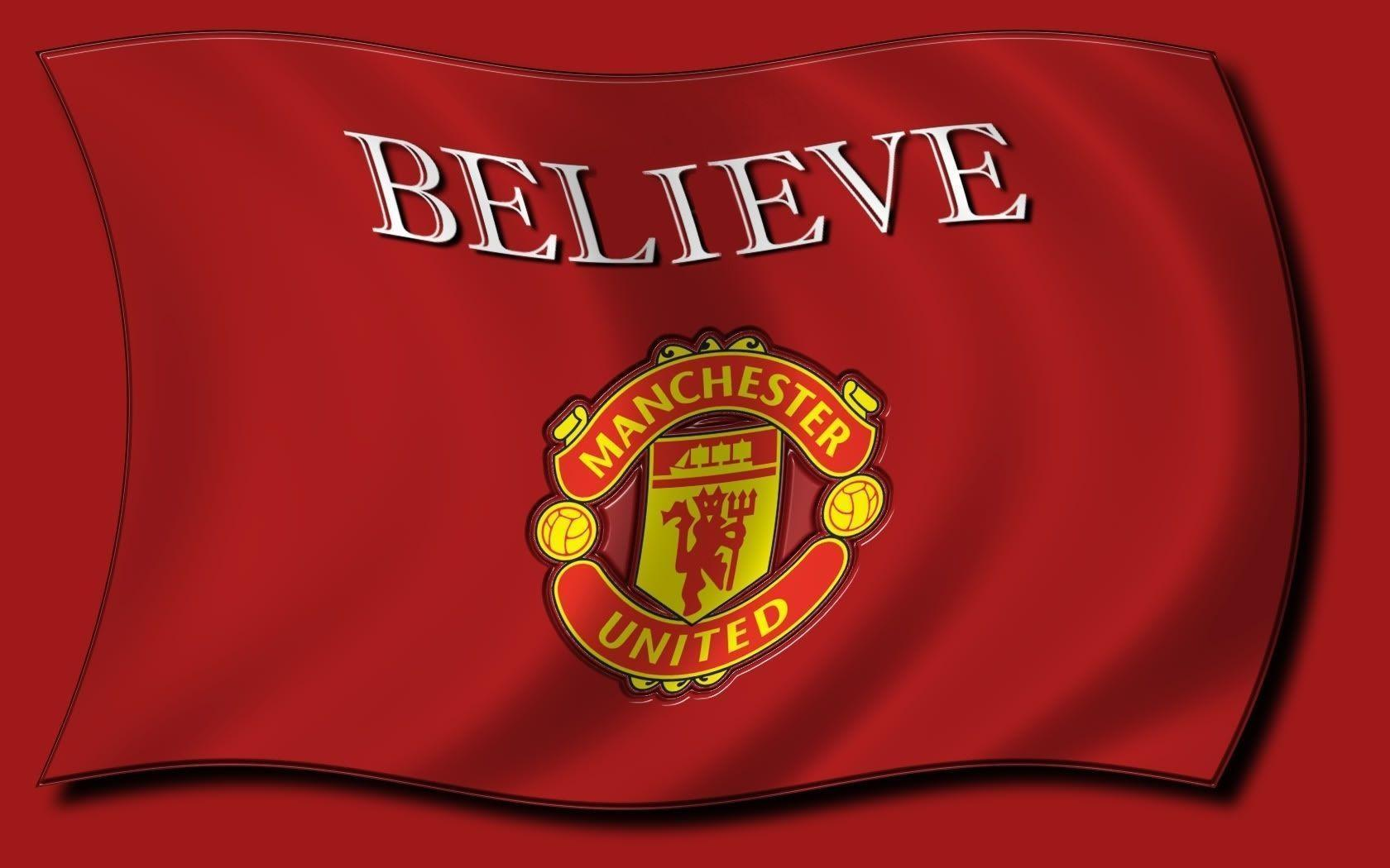 Red Background Manchester United Logo Wallpape #11581 Wallpaper ...