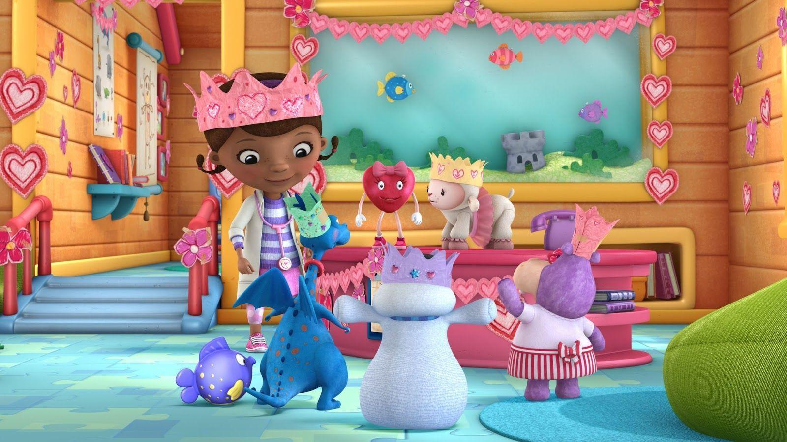 It is a graphic of Dramatic Doc Mcstuffins Background