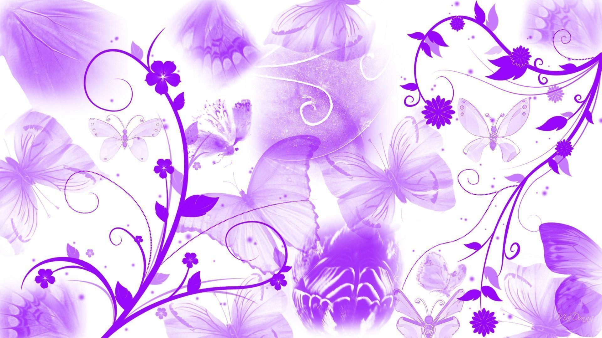 Wallpapers For Purple Rose Butterfly Background