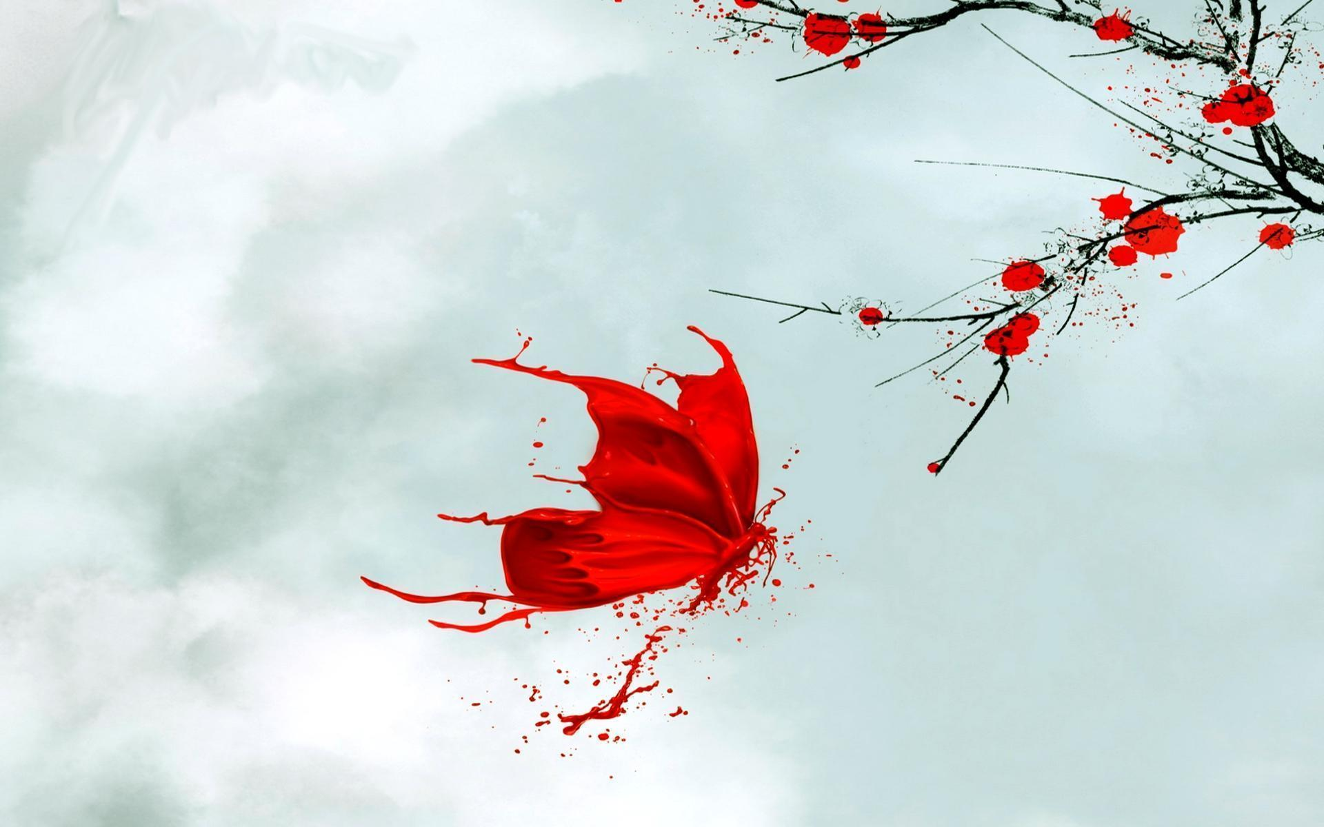red butterfly wallpapers - photo #3