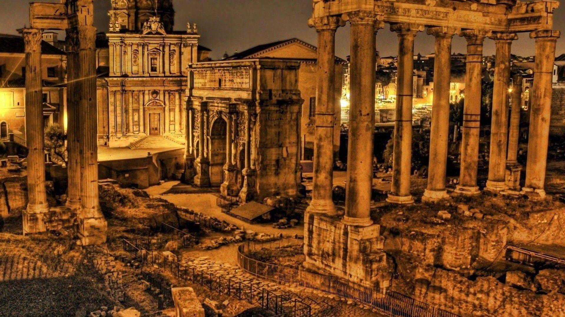 Roman Forum Heritage Rome Wallpaper 1920x1080