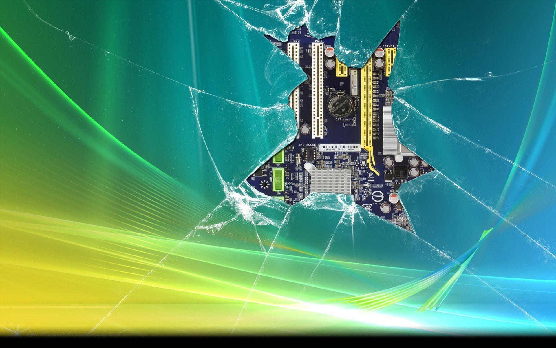 Windows 7 Broken Screen Free Wallpapers