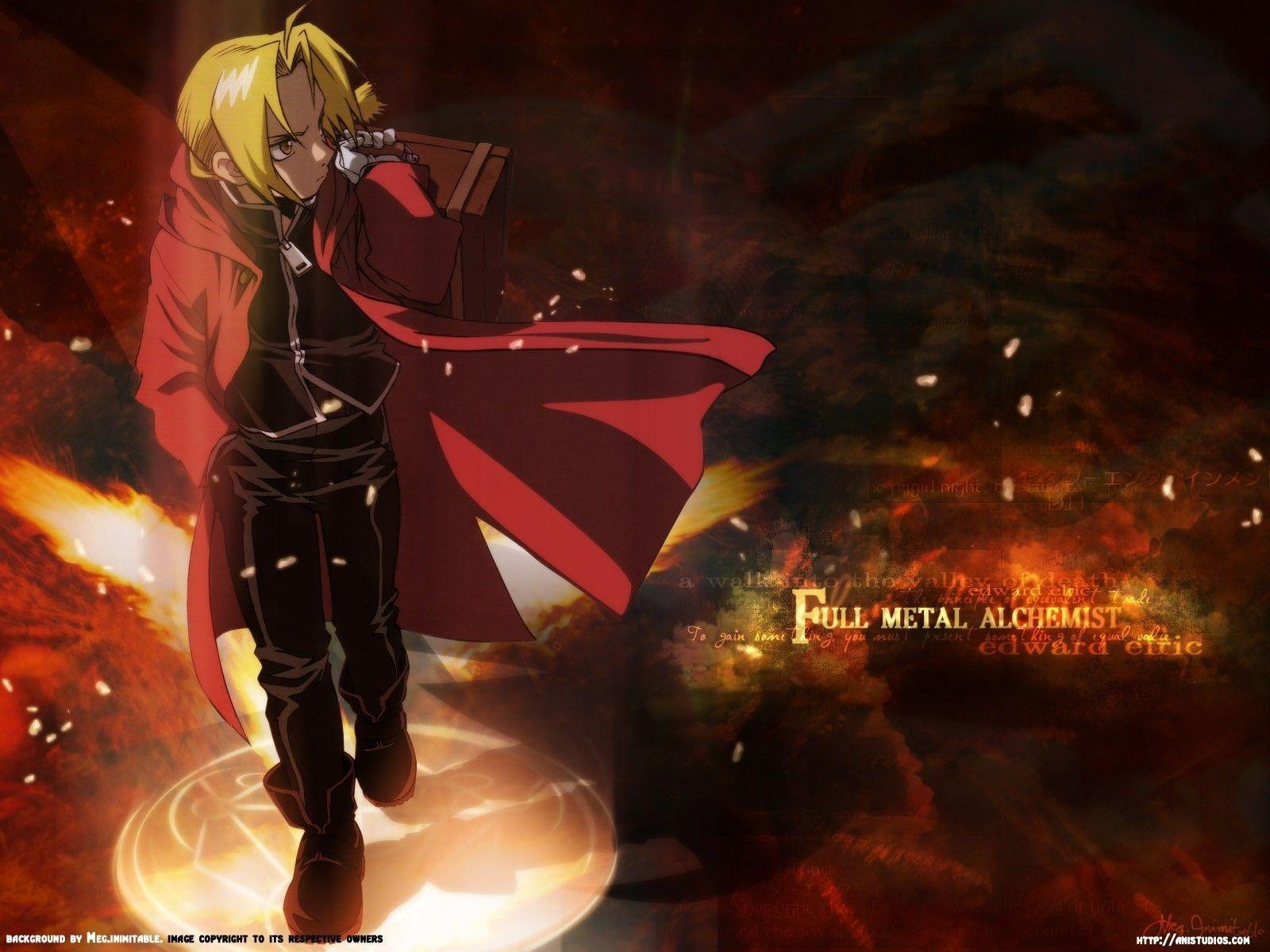 Download Edward Elric Wallpapers 1600x1200