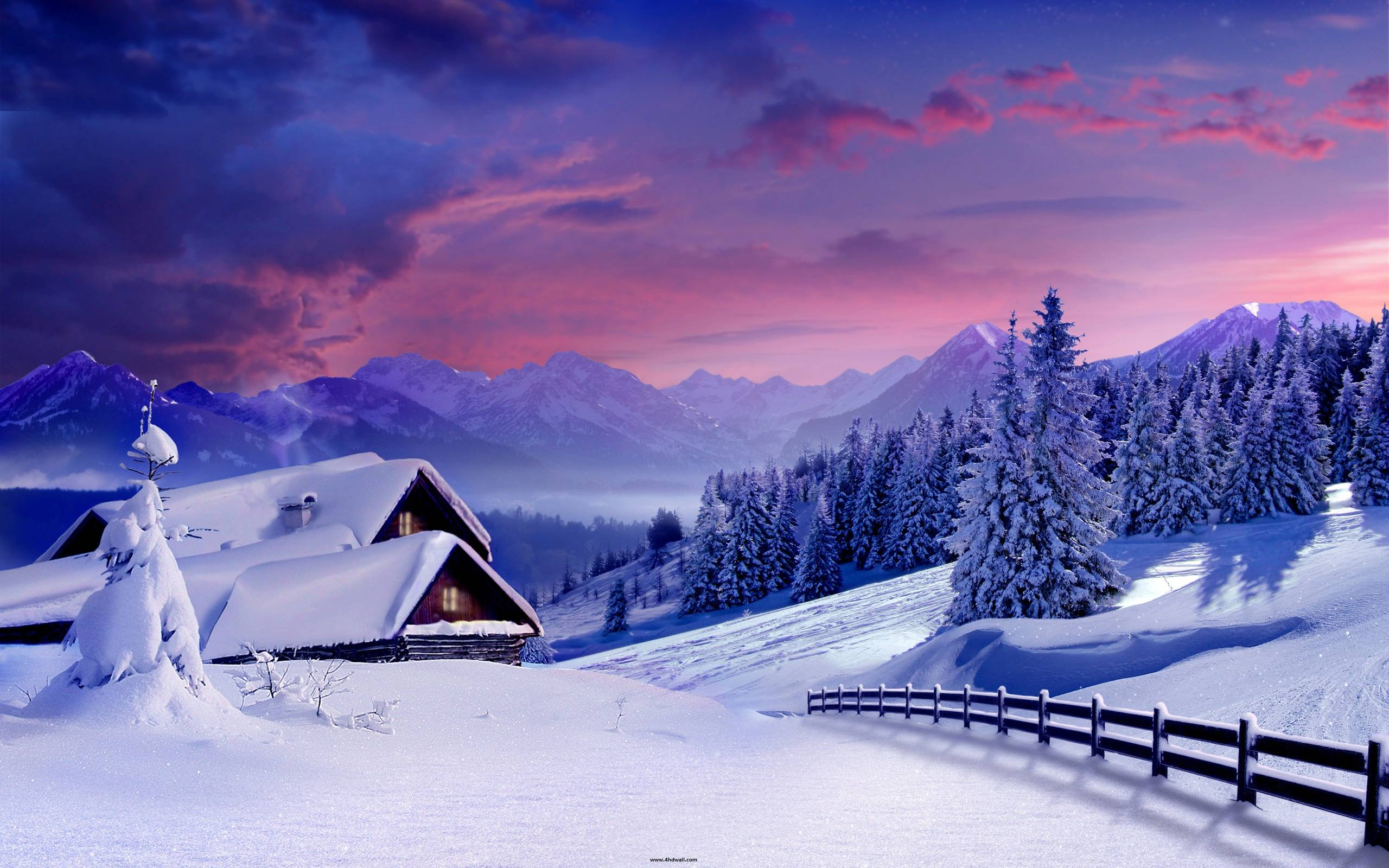 Beautiful winter backgrounds wallpaper cave for Sfondi desktop inverno