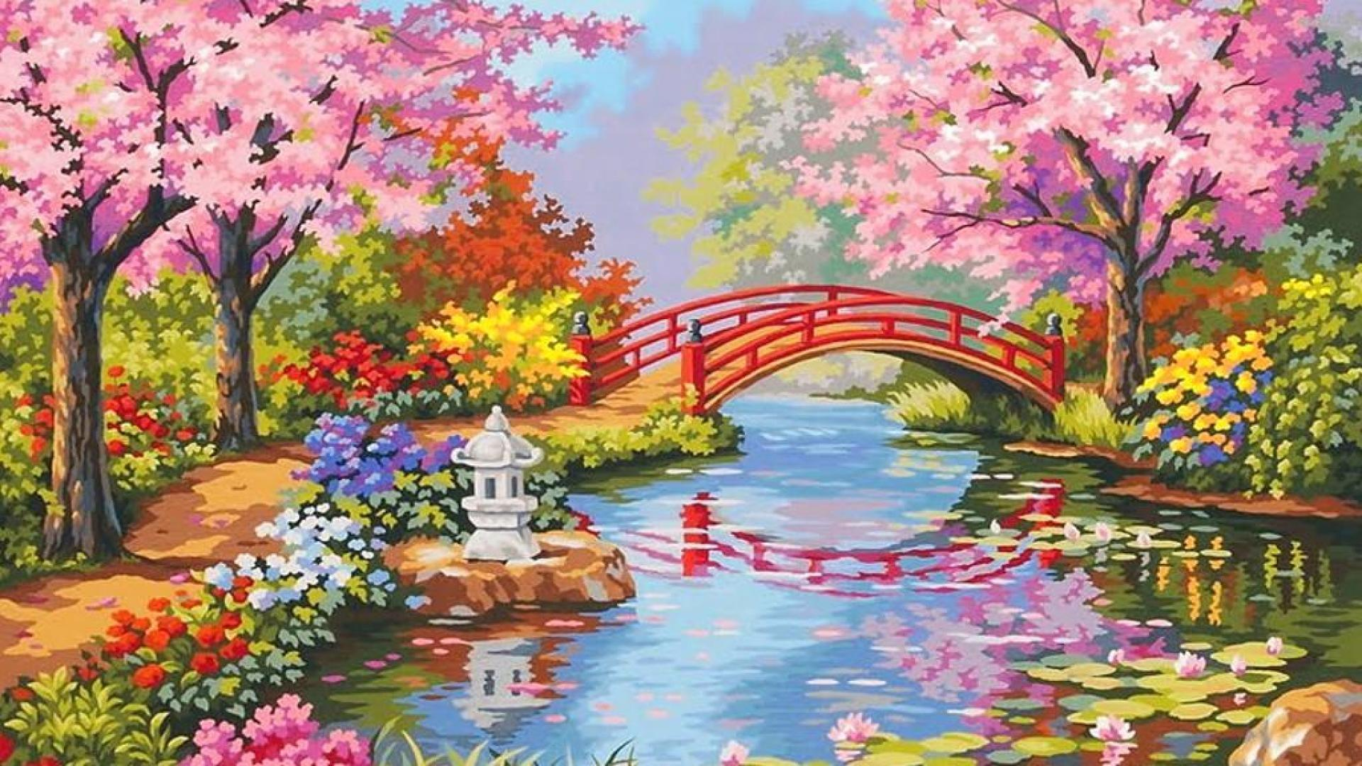 Japanese flower garden wallpaper awesome 716789 inspiration