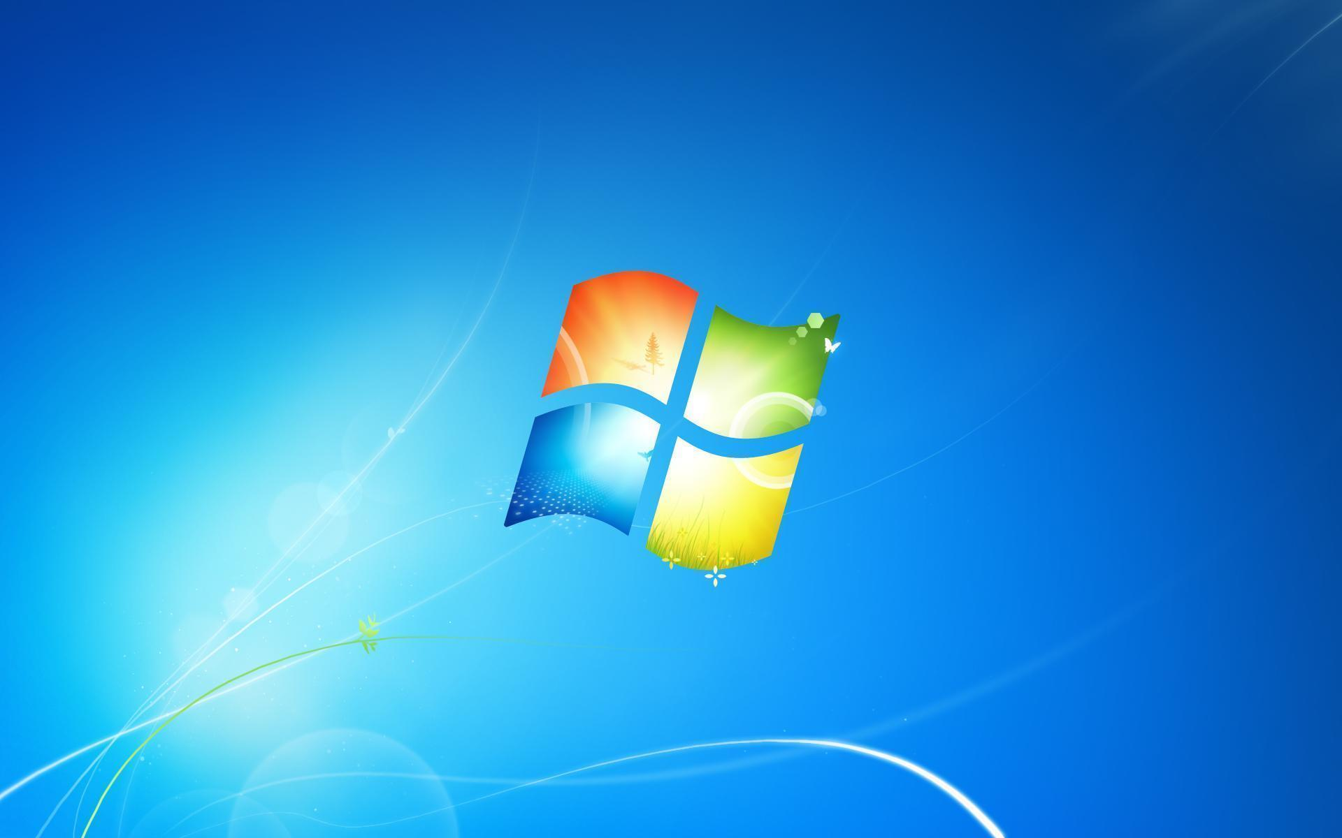 Windows 7 has a new default wallpapers and logo