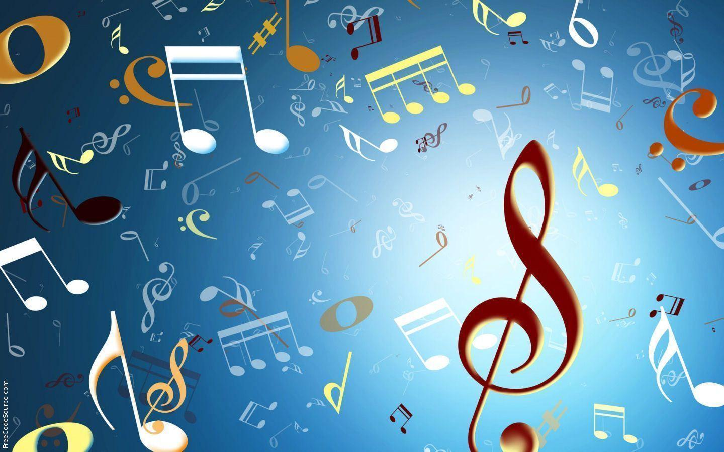 Rainbow Music Notes Background Hd Wallpaper Background Images: Music Notes Backgrounds