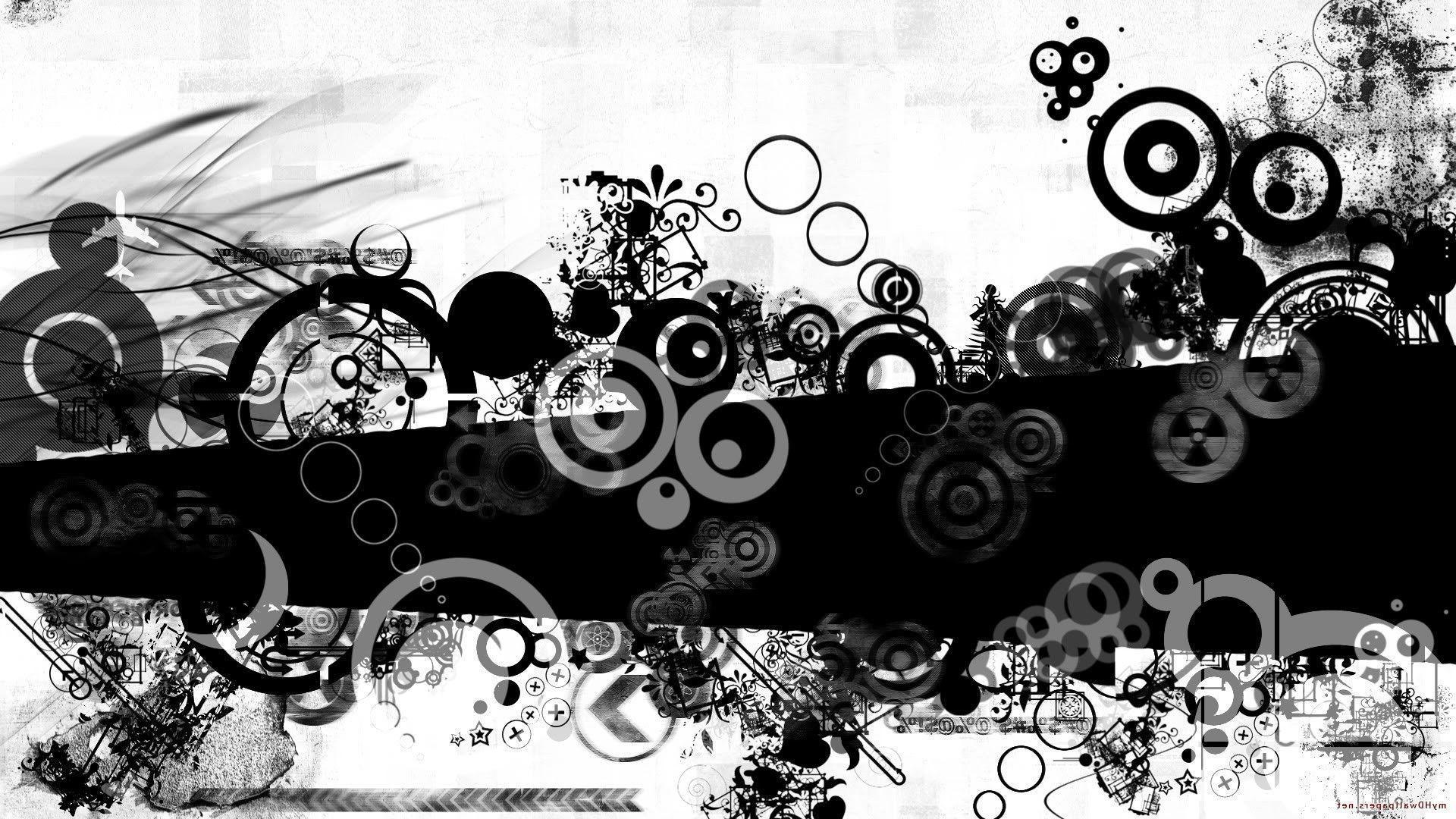 Image Black And White Abstract Backgrounds, Wallpapers, HD
