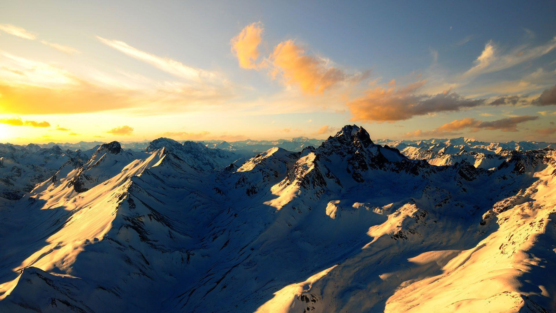 Snow Mountain Wallpapers Sunrise