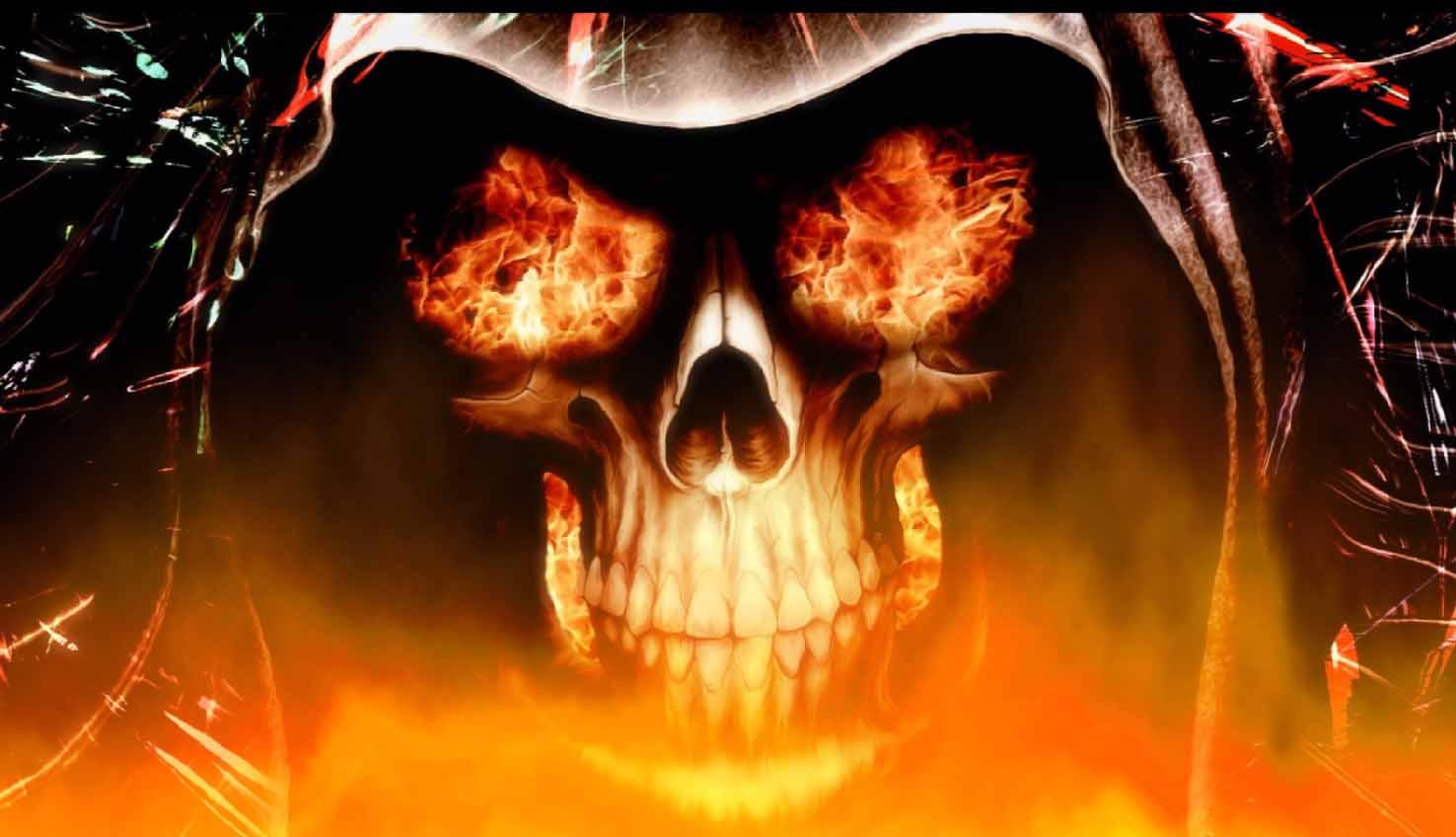 Fire Skulls Wallpapers