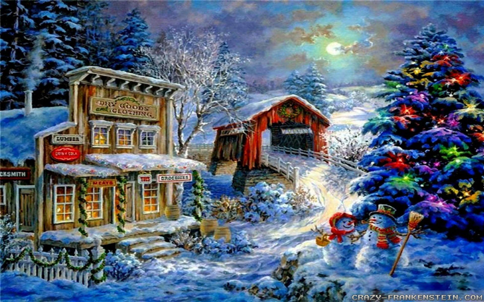 Christmas Scenes Wallpaper image