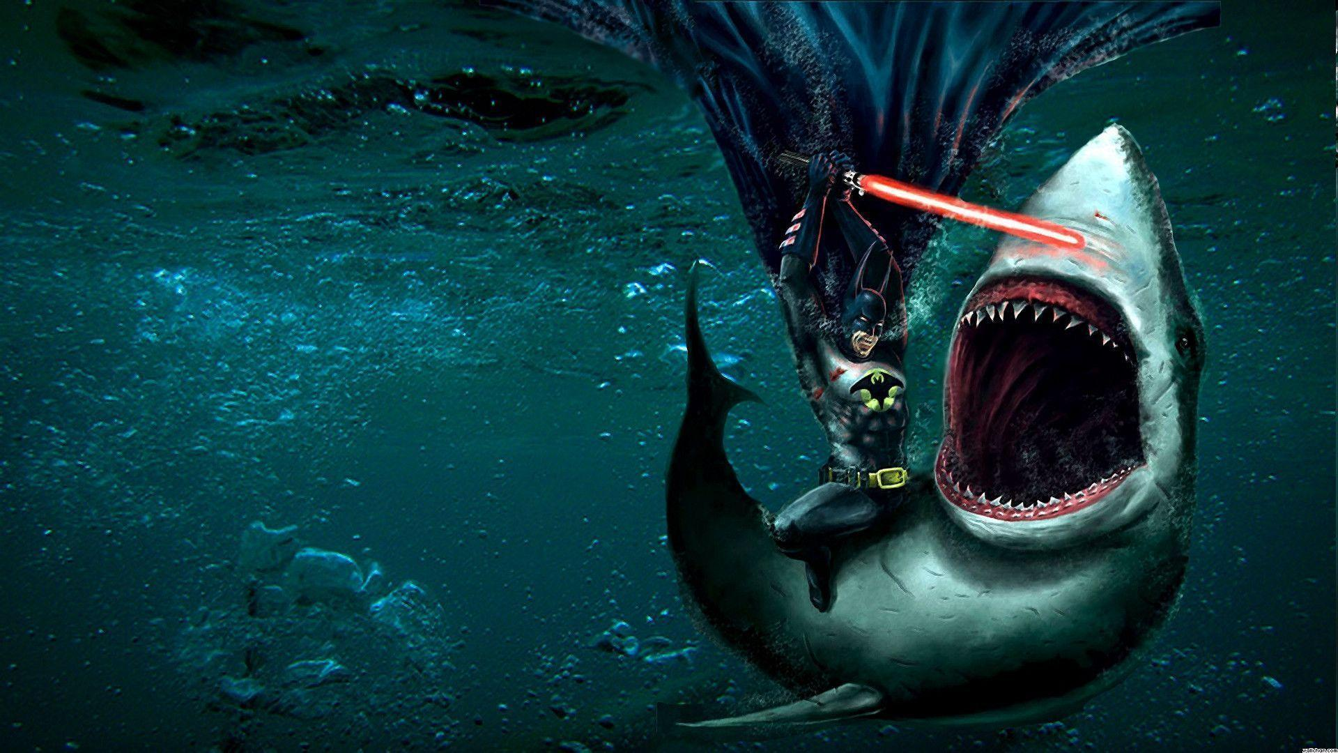 Download Batman Fighting Shark Fullhdwpp Free Wallpaper 1920x1080 ...