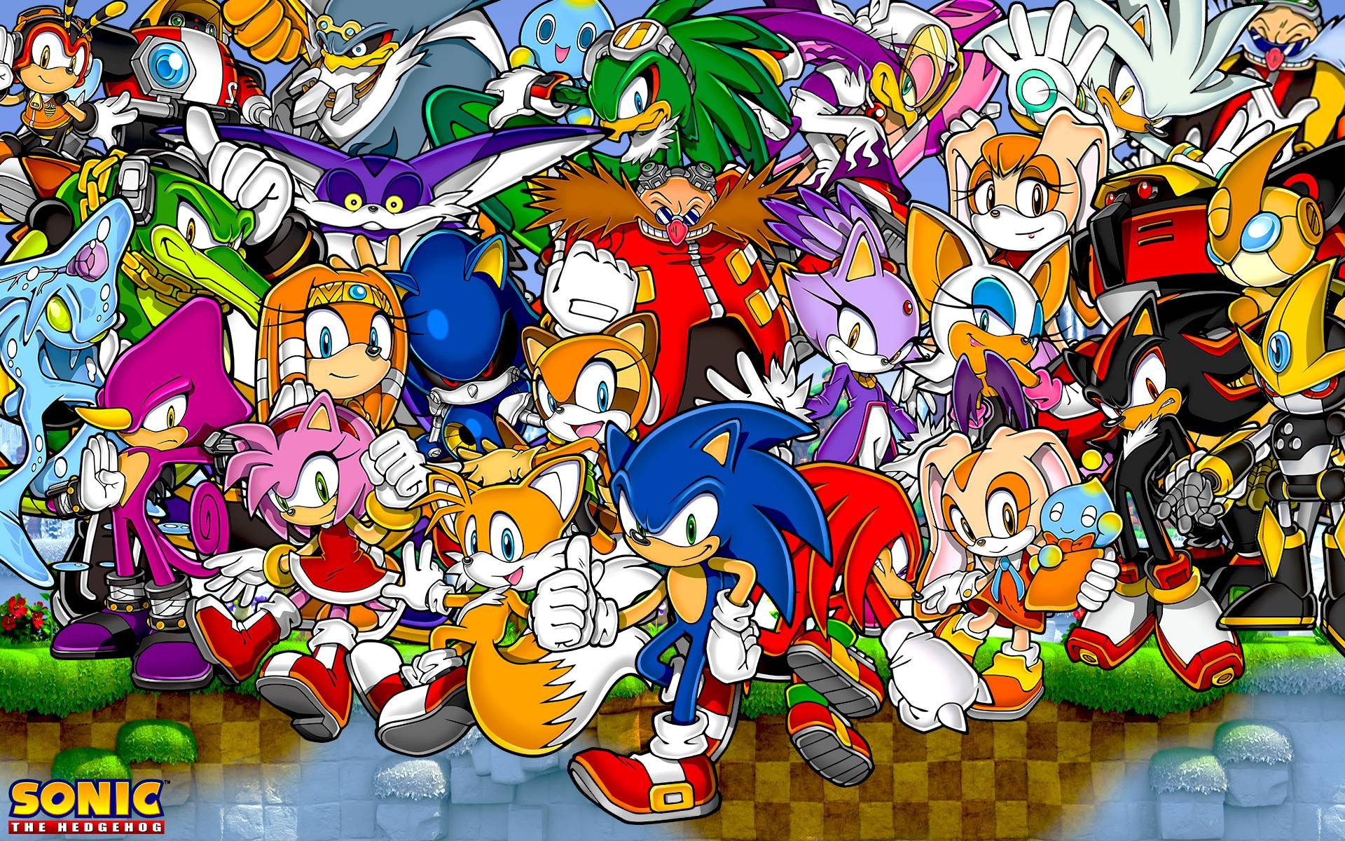Sonic The Hedgehog And Friends Wallpapers by SonicTheHedgehogBG on