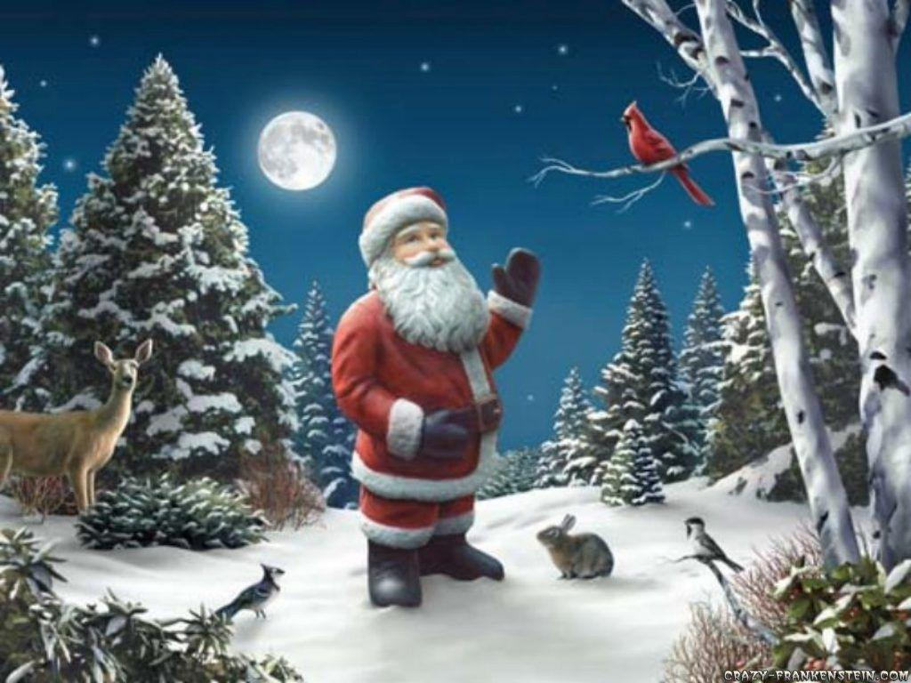 santa claus christmas hd wallpapers cool wallpapers - Santa Claus Christmas Tree