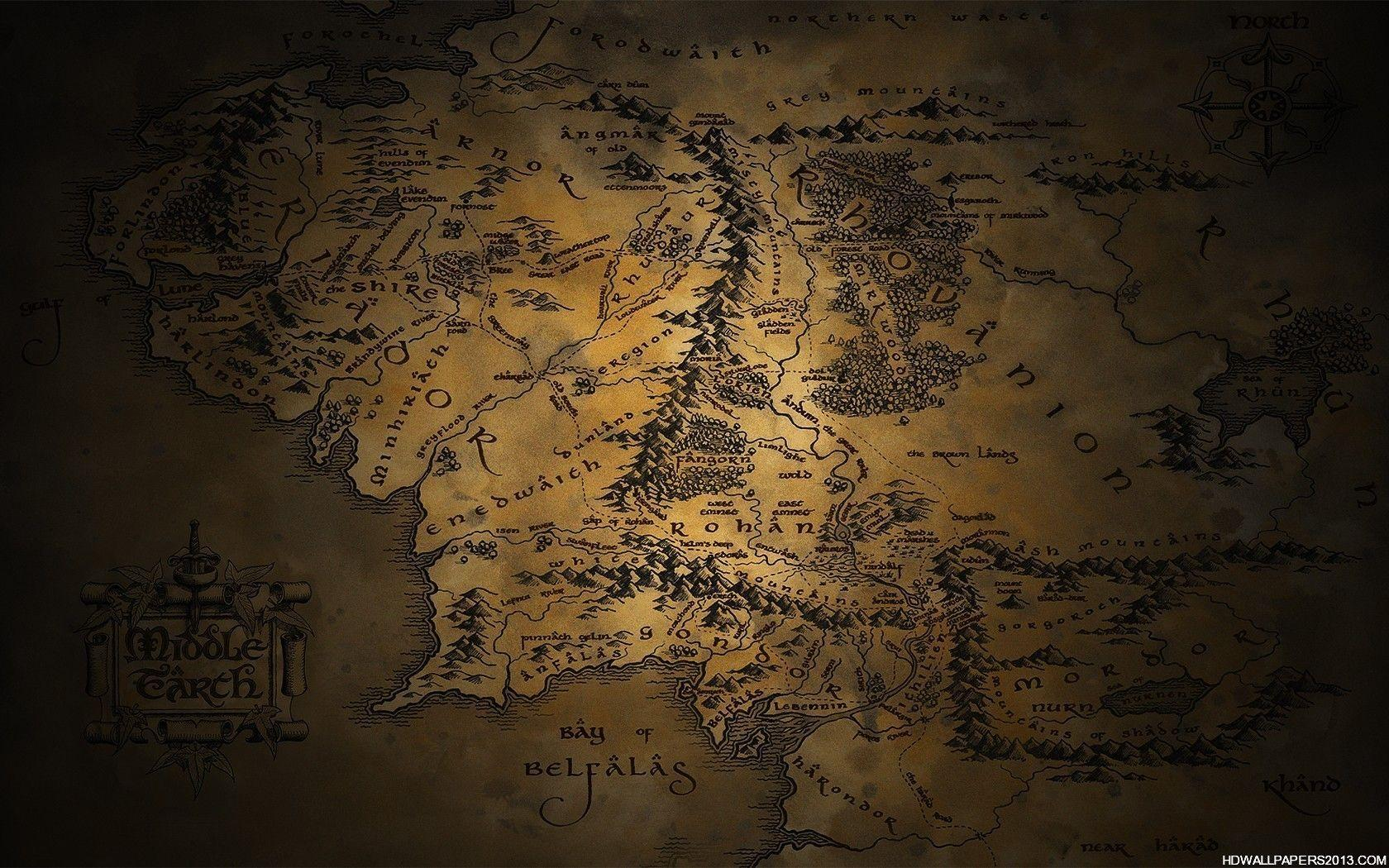 Map Of Middle Earth Wallpapers Wallpaper Cave – Lord of the Rings Map Middle Earth
