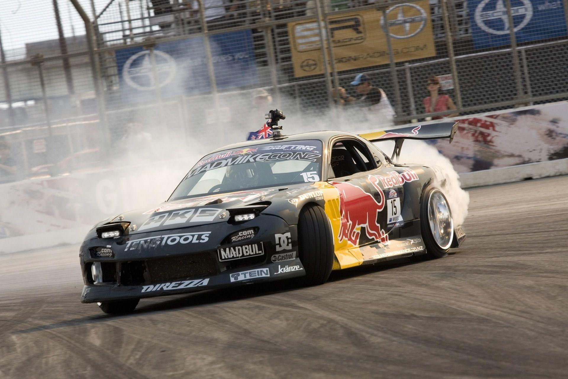 Wallpapers car, drift, wallpapers, mazda, rx7, drift, redbull, car ...