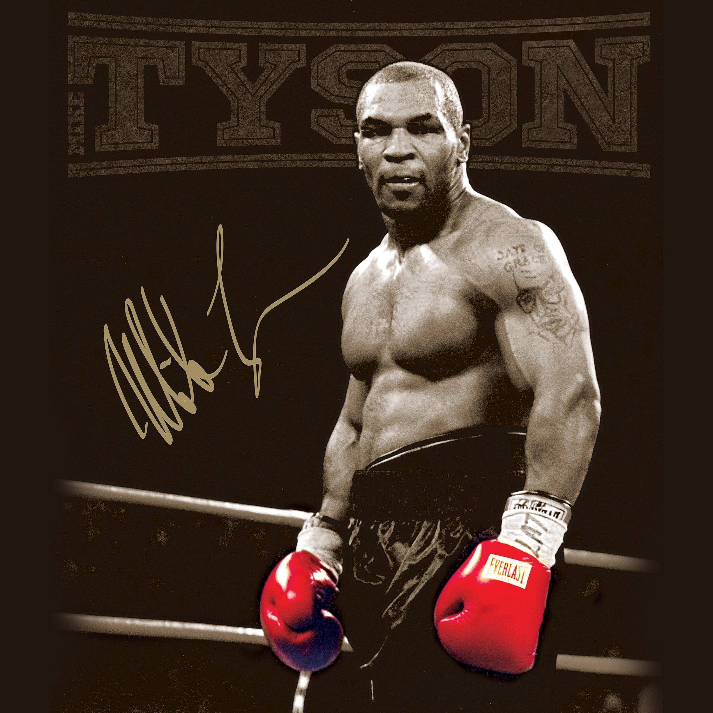 FREEIOS7 | mike-tyson-autographed - parallax HD iPhone iPad wallpaper