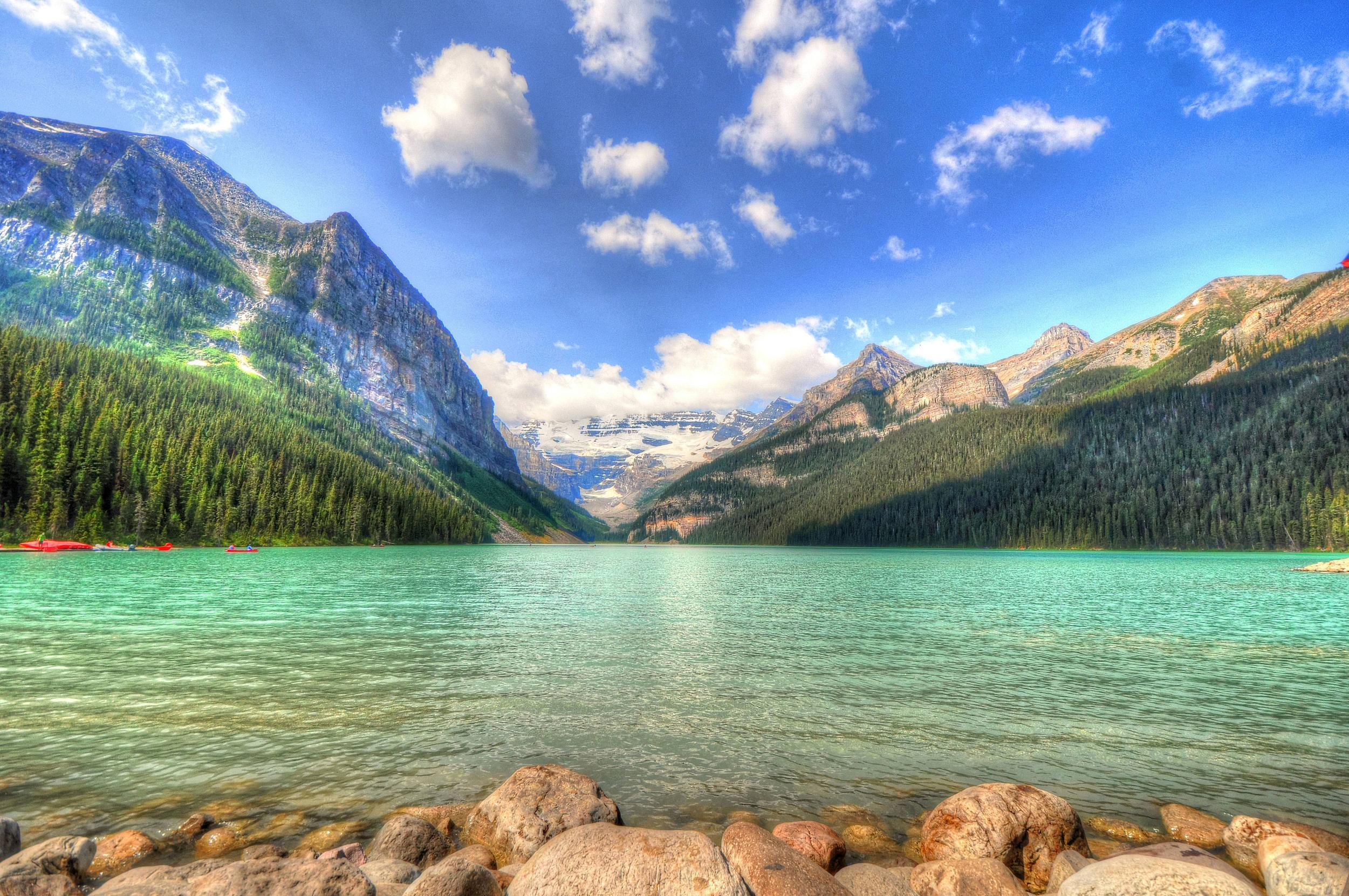 Download wallpaper Lake Louise, Alberta, Canada free desktop .
