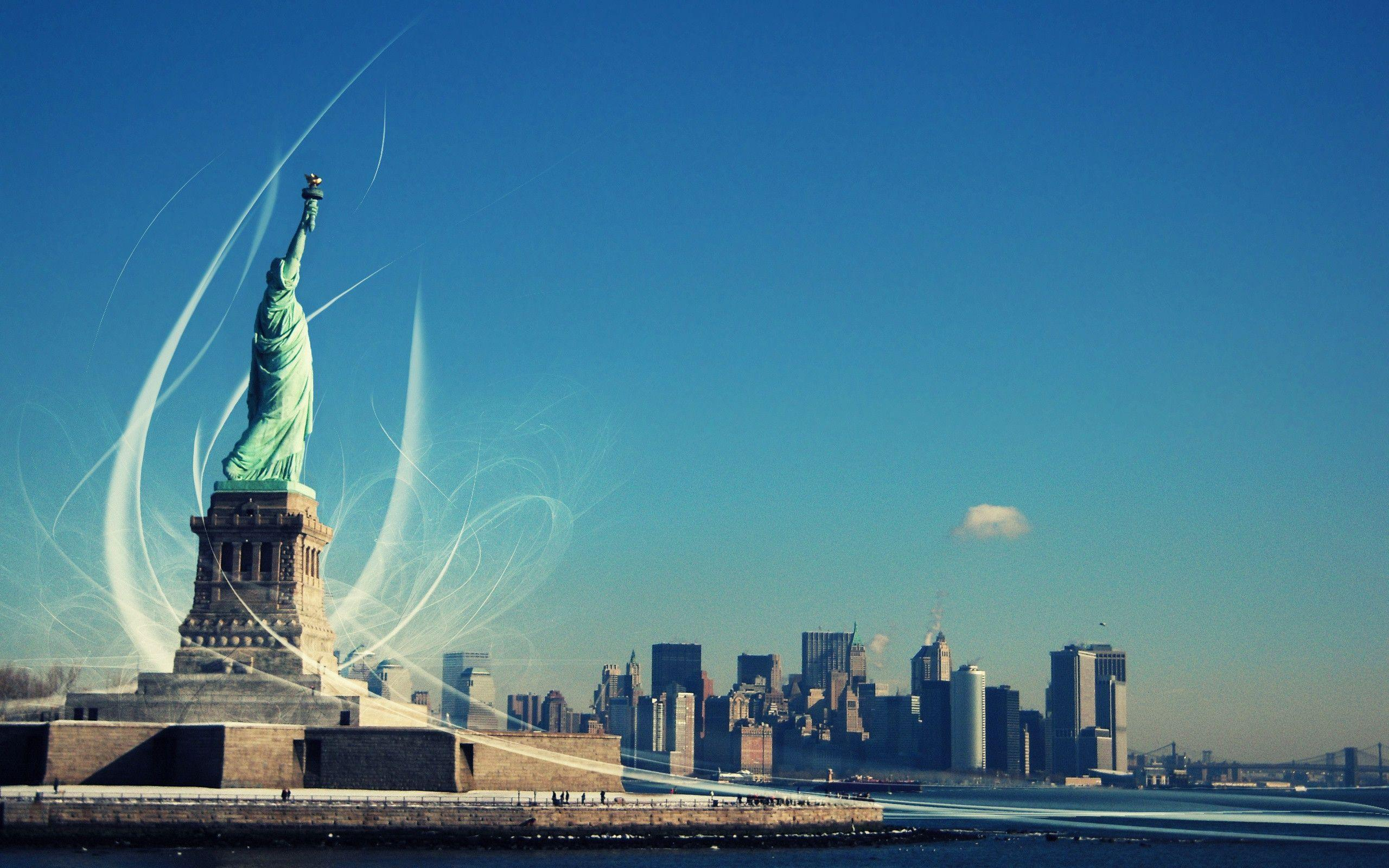 New York&Statue of Liberty Wallpapers