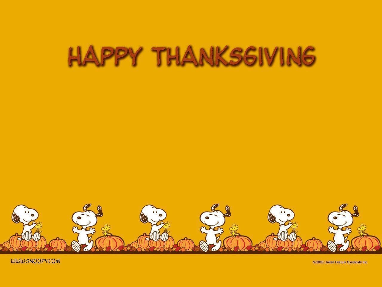 Thanksgiving - Peanuts Wallpaper (452773) - Fanpop