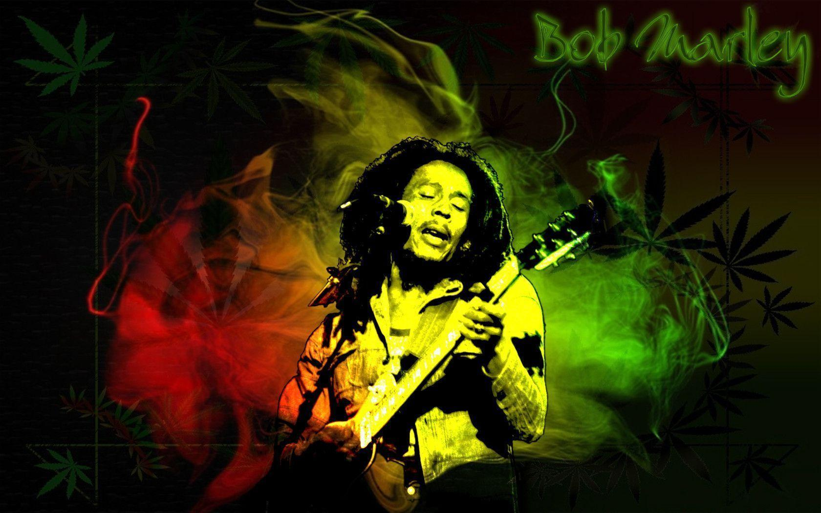 Bob Marley Smoking Weed Wallpaper Hd Picture Image Photo 44628