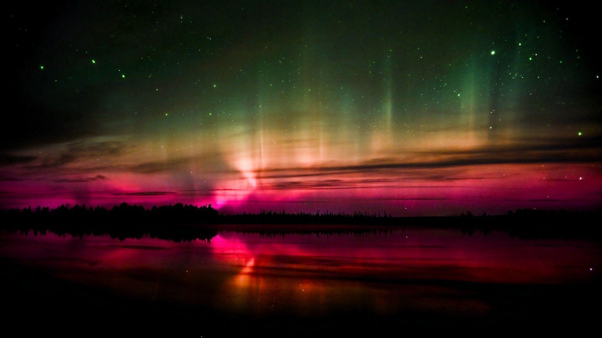 purple aurora borealis wallpapers x - photo #3