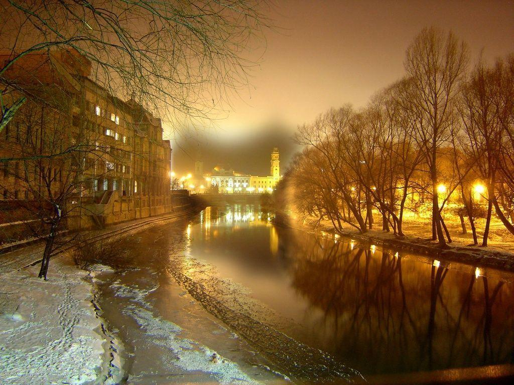 Oradea At Night Romania