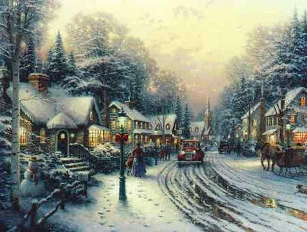 Thomas Kinkade Disney Oil Paintings