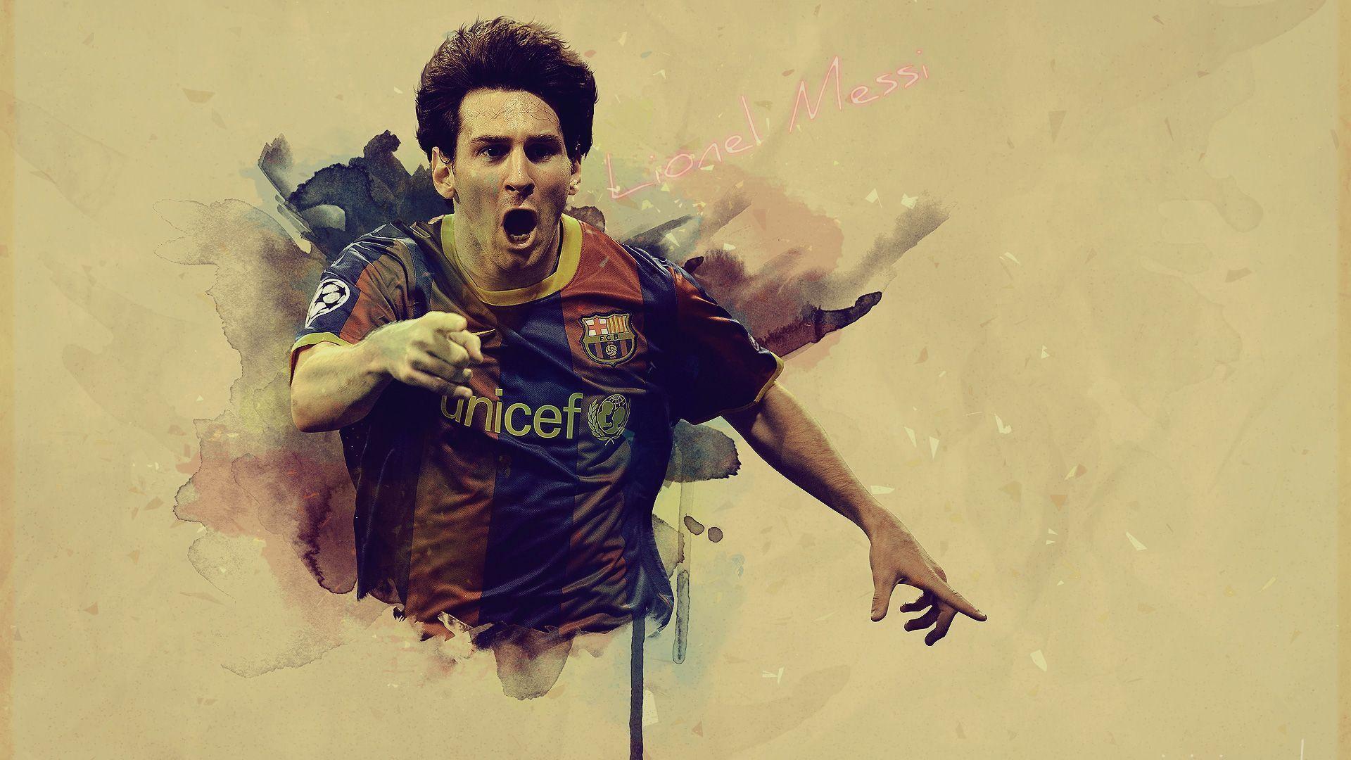 Messi Address Barcelona Background 1 HD Wallpapers | F. C. Barcelona