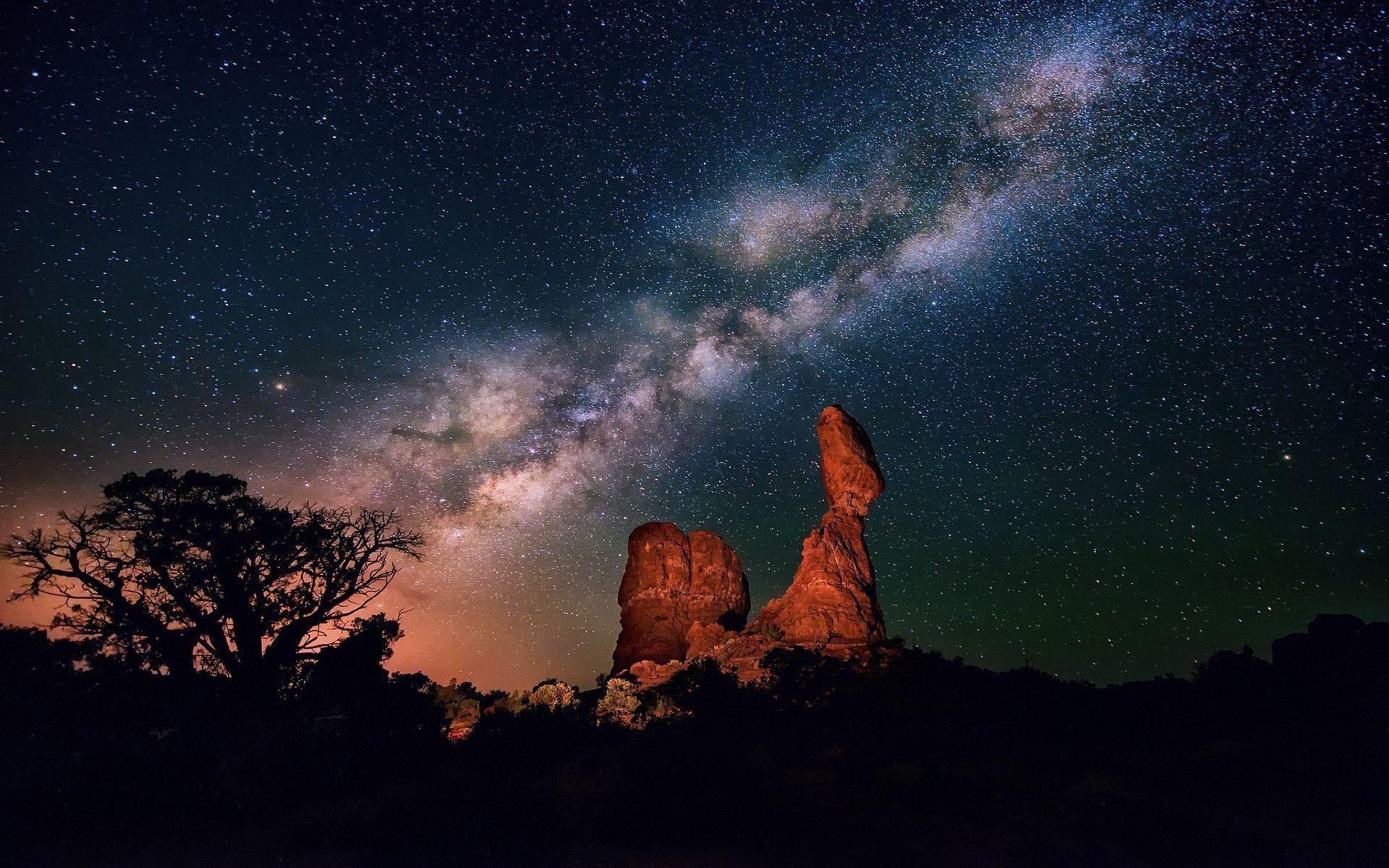 Milky way night Wallpapers